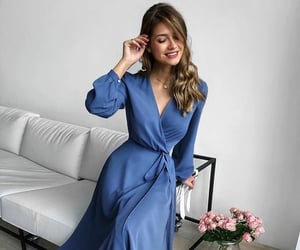 blue, dress, and look image