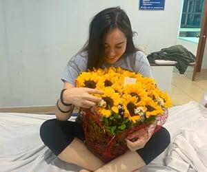 boyfriend, flowers, and hospital image
