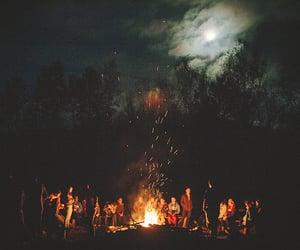 art, fire, and bonfire image