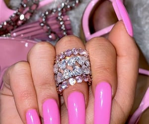 jewelry, nails, and pink image