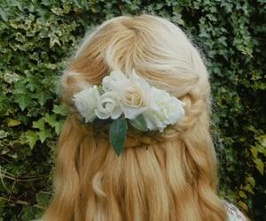 braid, braided, and flower image