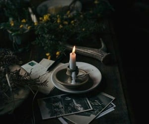 candle, aesthetic, and dark image