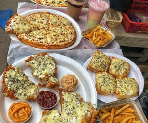 breakfast, food, and pizza image