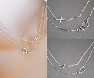 etsy, double necklace, and gift for women image