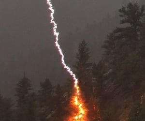 aesthetic, fire, and lightning image