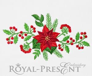 christmas, christmas tree, and embroidery design image