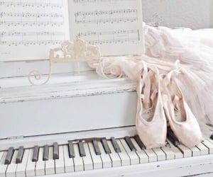 ballet, pastel, and piano image