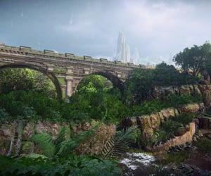 bridge, travel, and ferns image
