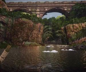 bridge, brown, and overcast image
