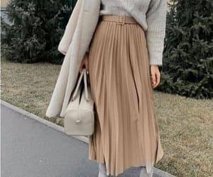 jacket and pleated skirt image