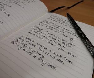 art, handwriting, and poetry image