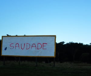 saudade, miss, and sky image