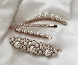 white, accessories, and pearls image