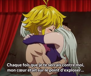 anime, nanatsu no taizai, and couple image