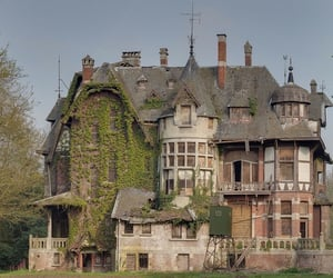 house, abandoned, and mansion image