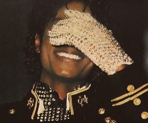 glove, jackson, and king of pop image