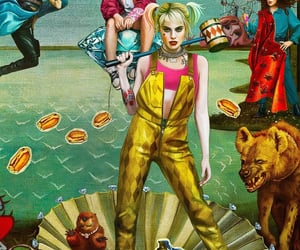harley quinn, birds of prey, and DC image