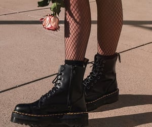 aesthetic, rose, and boots image
