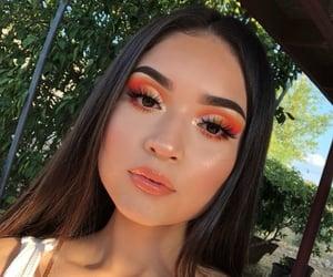 beauty, summer, and naranja image