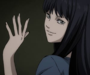anime, anime girl, and junji ito image