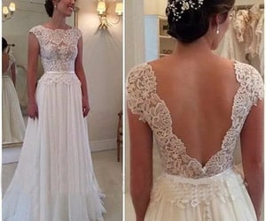 wedding gown, wedding dresses for bride, and lace wedding dress image