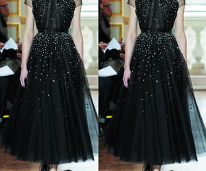 prom gown, black prom dress, and elegant prom dress image