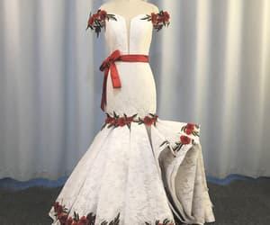 women fashion, mermaid evening dress, and vestido de longo image