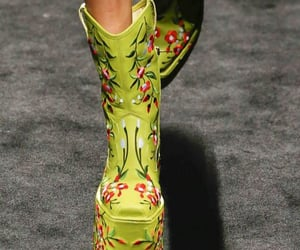 boots, catwalk, and runway image
