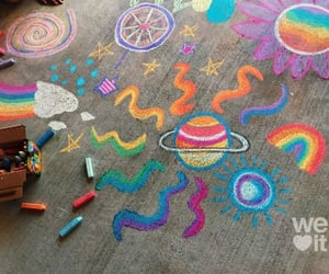 chalk, cover, and rainbow image