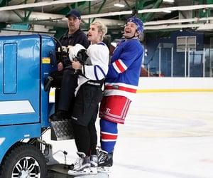 hockey, jimmy fallon, and justin bieber image