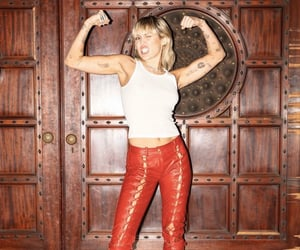 girl power, strong, and miley cyrus image