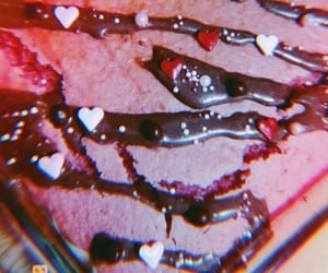 brownie, cake, and heart image
