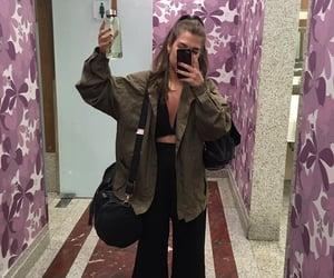 casaco, preto, and girl image