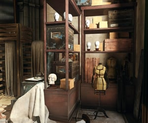 brown, clutter, and mannequin image