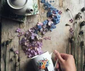 flowers, shabby, and tea image
