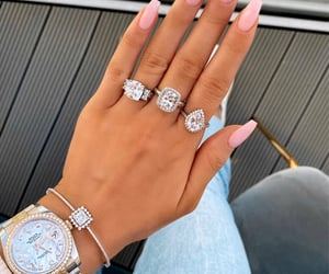 jewelry, nails, and rolex image