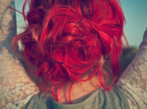 colored hair, hair, and redhead image