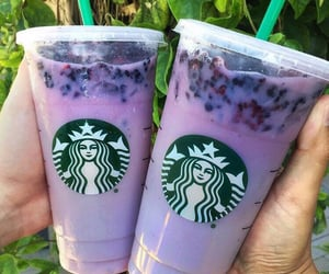 starbucks, purple, and drink image