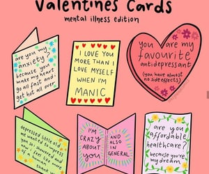anxiety, cards, and valentines day image