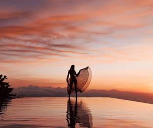 sunset, travel, and inspiration image