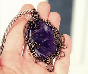 alternative, jewelry, and amethyst necklace image