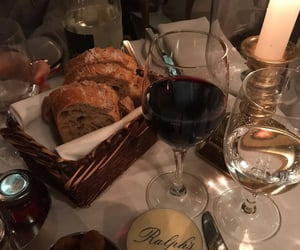 bread, drinks, and wine image