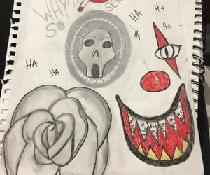 art, clown, and pencil image