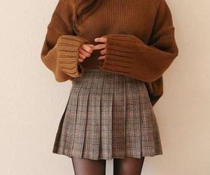 autumn, outfit, and brown image