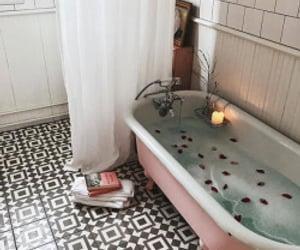 architecture, bath, and bathtub image