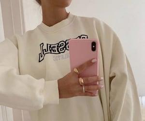 sweater, cream, and fashion image