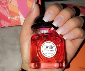 nails, lové, and parfum image