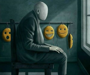 many faces, behind the mask, and mask image