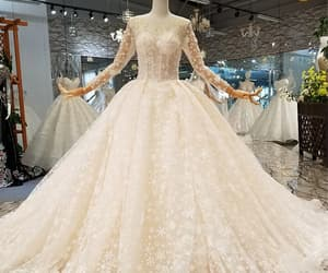 beaded, bride, and wedding image