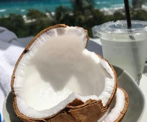 coconut, aesthetic, and theme image